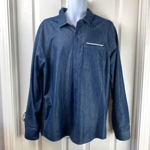 Toad & Co Yonder Long Sleeve Shirt Blue Sz L